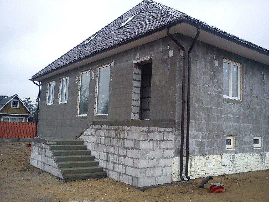 отштукатуренный фасад