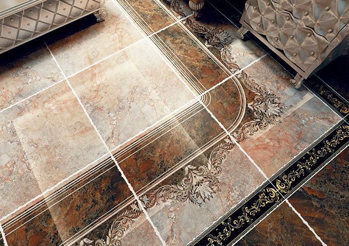 Керамогранитная плитка с глазурованной поверхностью