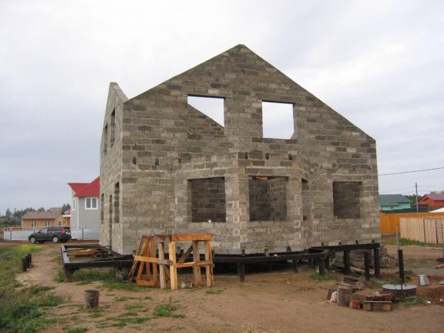 дом из керамзита