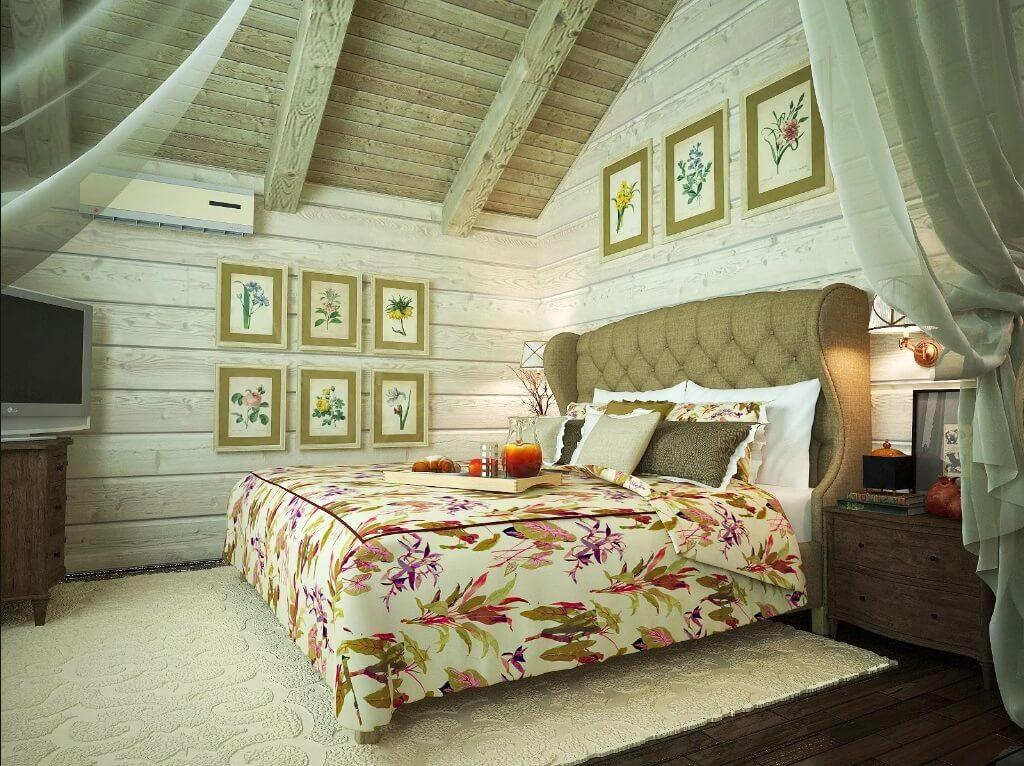 спальня деревянный дом