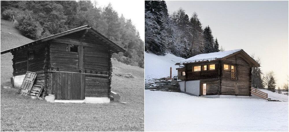 дом шале старый