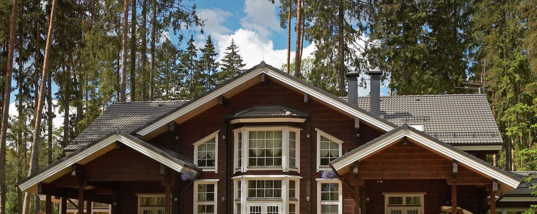 комбинированная двускатная крыша