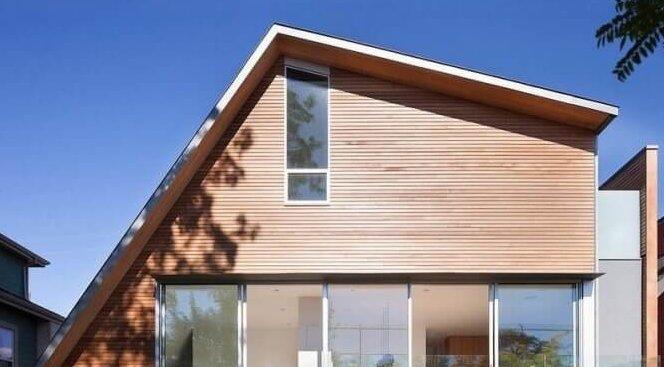 не симметричная двускатная крыша