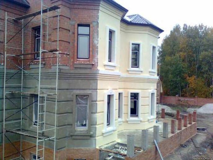 цементная штукатурка на фасаде