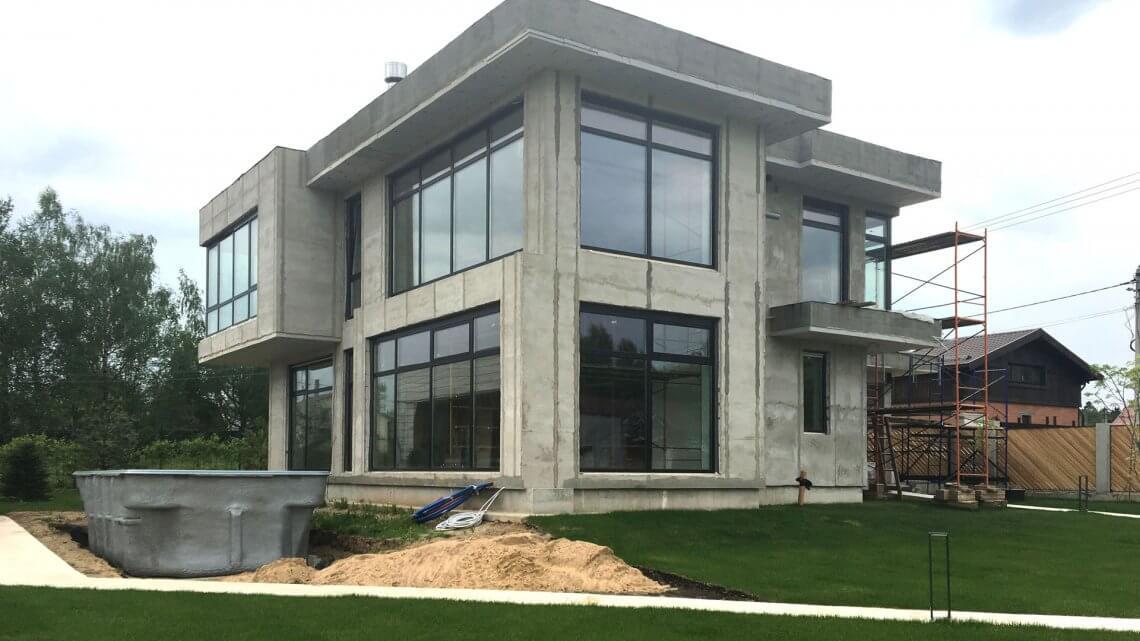 Монолитно-бетонный дом. Виды железобетонных домов, их плюсы и минусы.