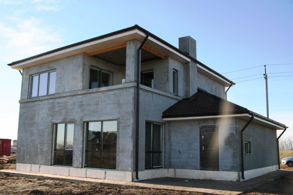железо-бетонный монолитный дом