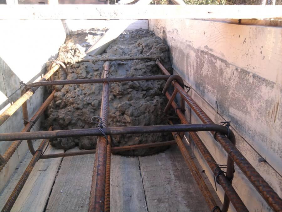 заливка железобетонной стены