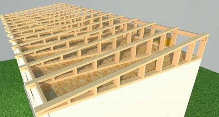 односкатная крыша