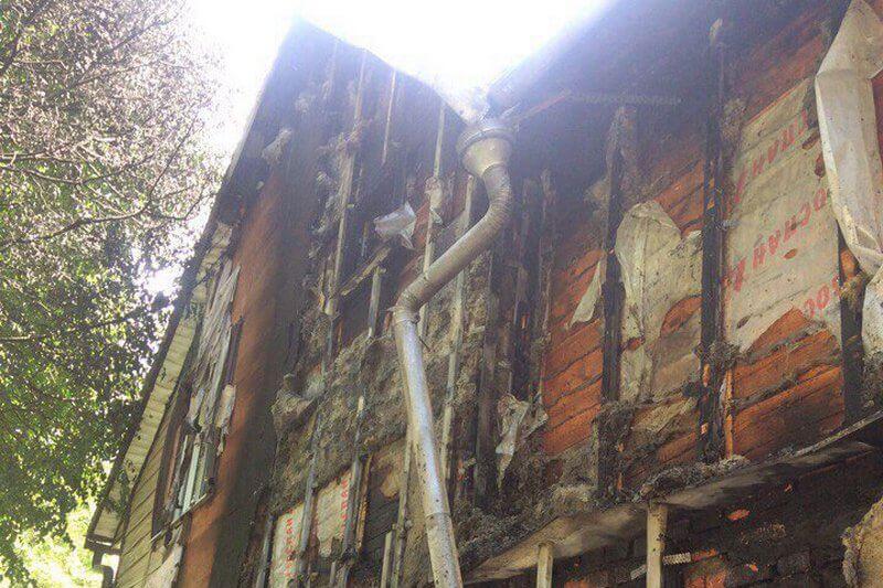 сайдинг после пожара