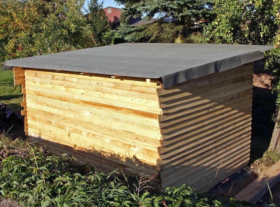 рубероид на односкатной крыше